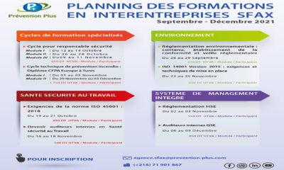 PLANNING DES FORMATIONS EN INTERENTREPRISES SFAX